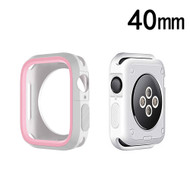 Performance Sports Bumper Case for Apple Watch 40mm Series 4 - Pink White