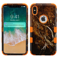 Military Grade Certified TUFF Hybrid Armor Case for iPhone XS Max - Tree Camouflage Orange 011