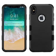 Military Grade Certified TUFF Hybrid Armor Case for iPhone XS Max - Black 001