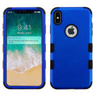 Military Grade Certified TUFF Hybrid Armor Case for iPhone XS Max - Blue 005