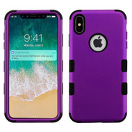 Military Grade Certified TUFF Hybrid Armor Case for iPhone XS Max - Purple