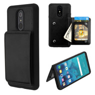 Pocket Wallet Case with Stand for LG Stylo 4 - Black