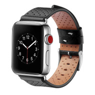 *Sale* Perforated Genuine Leather Watch Band for Apple Watch 40mm / 38mm - Black