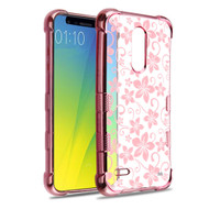 TUFF Klarity Electroplating Transparent Anti-Shock TPU Case for LG K30 - Hibiscus Flower