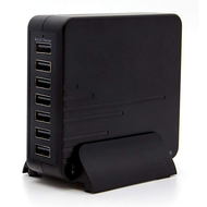 7 Port 60W 12 AMP Quick Charge 2.0 Desktop Charger USB Charging Station - Black