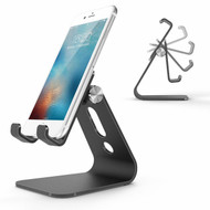 Aluminum Adjustable Desktop Cell Phone Stand - Black