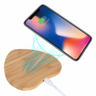 *Sale* Bamboo Wireless Charger Qi Charging Pad - Heart