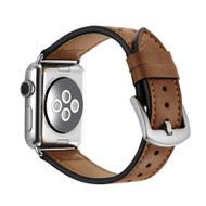 *Sale* Polka Dot Genuine Leather Watch Band for Apple Watch 44mm / 42mm - Brown