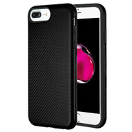 Carbon Fiber Hybrid Case for iPhone 8 Plus / 7 Plus / 6S Plus / 6 Plus - Black