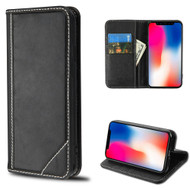 Mybat Genuine Leather Wallet Case for iPhone XR - Black