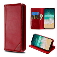 Mybat Genuine Leather Wallet Case for iPhone XS Max - Red
