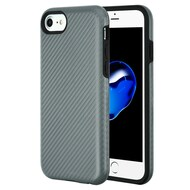 Carbon Fiber Hybrid Case for iPhone 8 / 7 / 6S / 6 - Grey