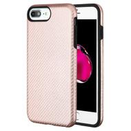 Carbon Fiber Hybrid Case for iPhone 8 Plus / 7 Plus / 6S Plus / 6 Plus - Rose Gold