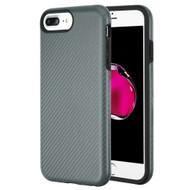 Carbon Fiber Hybrid Case for iPhone 8 Plus / 7 Plus / 6S Plus / 6 Plus - Grey