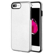 Carbon Fiber Hybrid Case for iPhone 8 Plus / 7 Plus / 6S Plus / 6 Plus - Silver