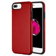 Carbon Fiber Hybrid Case for iPhone 8 Plus / 7 Plus / 6S Plus / 6 Plus - Red