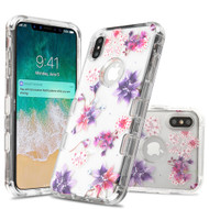 Military Grade Certified TUFF Lucid Transparent Hybrid Armor Case for iPhone XS Max - Purple Stargazer