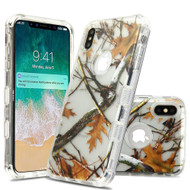 Military Grade Certified TUFF Lucid Transparent Hybrid Armor Case for iPhone XS Max - Oak