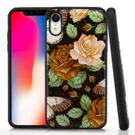 Tough Anti-Shock Triple Layer Hybrid Case for iPhone XR - Lucky Flowers