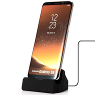 Desktop Charge and Sync Dock Stand for Smartphone with Type-C (USB-C) Connector - Black
