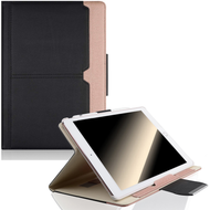 Book-Style 360 Degree Smart Rotating Leather Case for iPad (2018/2017) / iPad Air - Black Rose Gold