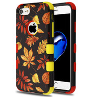 Military Grade Certified TUFF Hybrid Armor Case for iPhone 8 / 7 - Fiery Leaves