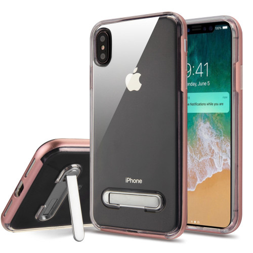 Bumper Shield Clear Transparent Tpu Case With Magnetic Kickstand For