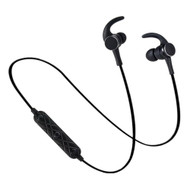 Magnetic Absorbing Bluetooth V4.1 Wireless IPX5 Sweatproof Headphones with Microphone - Black