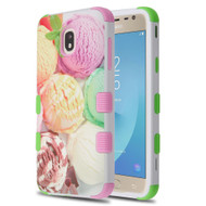 Military Grade Certified TUFF Hybrid Armor Case for Samsung Galaxy J7 (2018) - Ice Cream Scoops