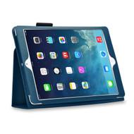 Leather Portfolio Smart Case for iPad (2018/2017) / iPad Air - Navy Blue