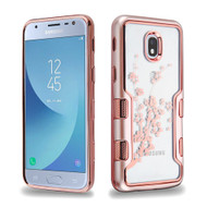 TUFF Panoview Transparent Hybrid Case for Samsung Galaxy J3 (2018) - Spring Flower