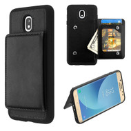 Pocket Wallet Case with Stand for Samsung Galaxy J7 (2018) - Black