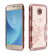 TUFF Panoview Transparent Hybrid Case for Samsung Galaxy J7 (2018) - Spring Flower