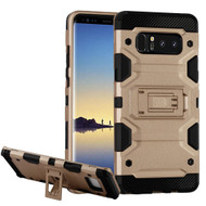 Military Grade Certified Storm Tank Hybrid Armor Case with Stand for Samsung Galaxy Note 8 - Gold