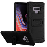 Military Grade Certified Storm Tank Hybrid Armor Case with Stand for Samsung Galaxy Note 9 - Black