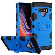 Military Grade Certified Storm Tank Hybrid Armor Case with Stand for Samsung Galaxy Note 9 - Blue