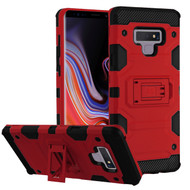 Military Grade Certified Storm Tank Hybrid Armor Case with Stand for Samsung Galaxy Note 9 - Red
