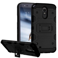 Military Grade Certified Storm Tank Hybrid Armor Case with Stand for LG Stylo 3 / Stylo 3 Plus - Black