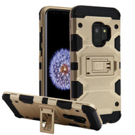 Military Grade Certified Storm Tank Hybrid Armor Case with Stand for Samsung Galaxy S9 - Gold