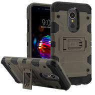 *Sale* Military Grade Certified Storm Tank Hybrid Armor Case with Stand for LG K30 / Harmony 2 / Premier Pro - Dark Grey
