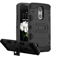 Military Grade Certified Storm Tank Hybrid Case for LG Aristo 3 / Aristo 2 Plus / Fortune 2 / Tribute Empire - Black
