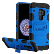 Military Grade Certified Storm Tank Hybrid Armor Case with Stand for Samsung Galaxy S9 Plus - Blue