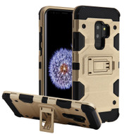 Military Grade Certified Storm Tank Hybrid Armor Case with Stand for Samsung Galaxy S9 Plus - Gold