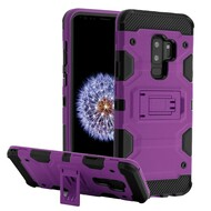 Military Grade Certified Storm Tank Hybrid Armor Case with Stand for Samsung Galaxy S9 Plus - Purple