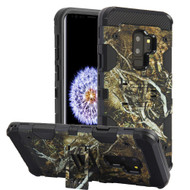 Military Grade Certified Storm Tank Hybrid Armor Case with Stand for Samsung Galaxy S9 Plus - Tree Camouflage