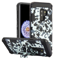 Military Grade Certified Storm Tank Hybrid Armor Case with Stand for Samsung Galaxy S9 Plus - Camouflage