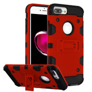 Military Grade Certified Storm Tank Hybrid Armor Case with Stand for iPhone 8 Plus / 7 Plus / 6S Plus / 6 Plus - Red