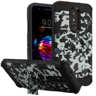 Military Grade Certified Storm Tank Hybrid Armor Case with Stand for LG K30 - Camouflage