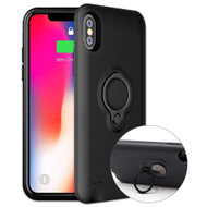 *Sale* Smart Power Bank Battery Charger Case 5000mAh with Ring Holder for iPhone XS / X - Black