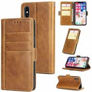 *FINAL SALE* Deluxe Genuine Leather Wallet Case for iPhone XS / X - Cinnamon Brown